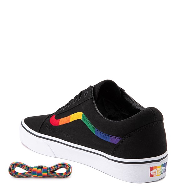 alternate view Vans Old Skool Skate Shoe - Black / RainbowALT1