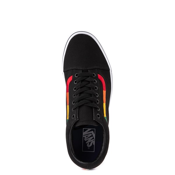 alternate view Vans Old Skool Skate Shoe - Black / RainbowALT2