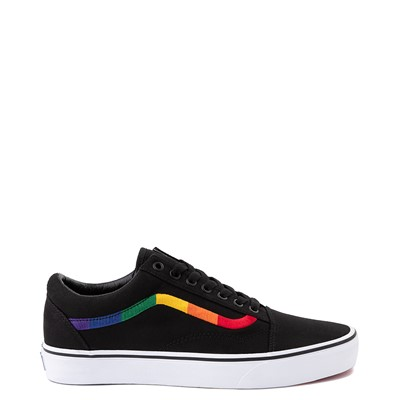 Main view of Vans Old Skool Rainbow Skate Shoe - Black