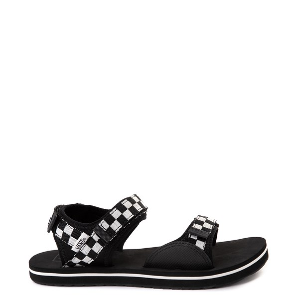 Womens Vans Tri-Lock Checkerboard Sandal - Black / White