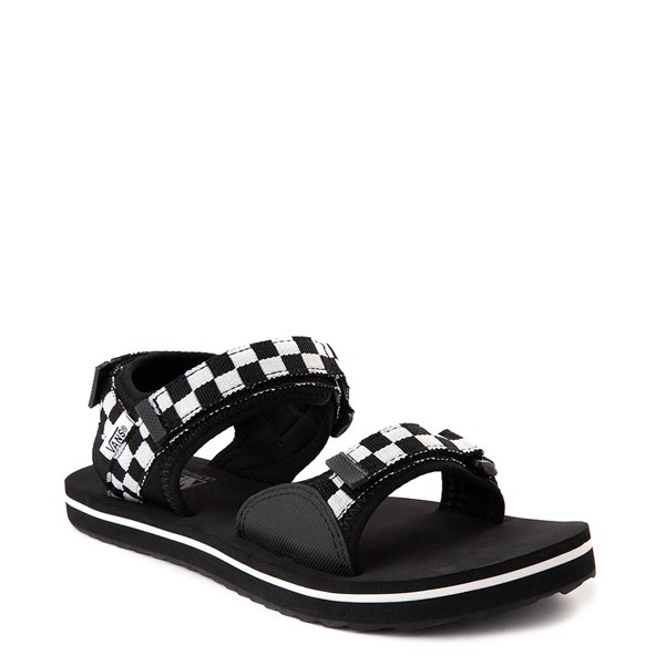 alternate view Womens Vans Tri-Lock Checkerboard Sandal - Black / WhiteALT1
