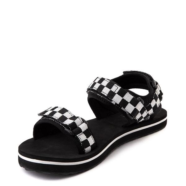 alternate view Womens Vans Tri-Lock Checkerboard Sandal - Black / WhiteALT3