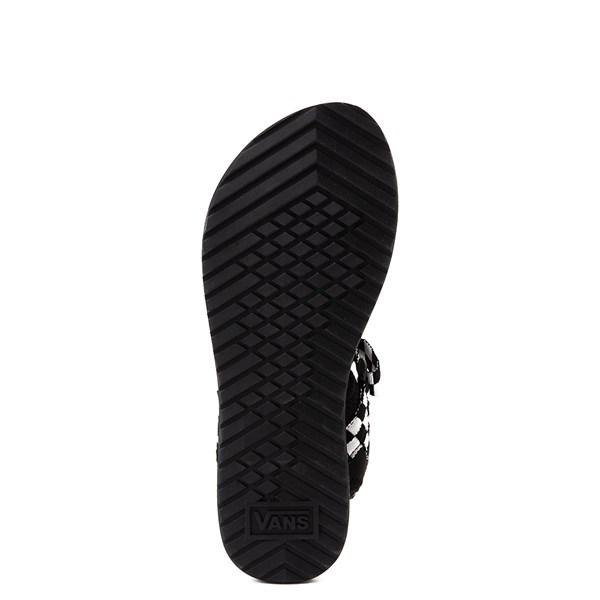 alternate view Womens Vans Tri-Lock Checkerboard Sandal - Black / WhiteALT5