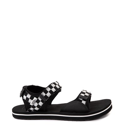 Main view of Womens Vans Tri-Lock Checkerboard Sandal - Black / White