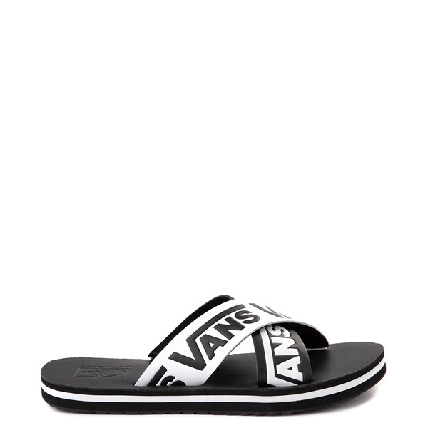 Womens Vans Cross Strap Sandal - Black / White