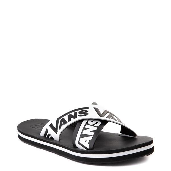 alternate view Womens Vans Cross Strap Sandal - Black / WhiteALT1