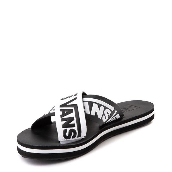 alternate view Womens Vans Cross Strap Sandal - Black / WhiteALT3