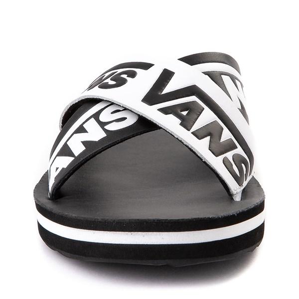 alternate view Womens Vans Cross Strap Sandal - Black / WhiteALT4
