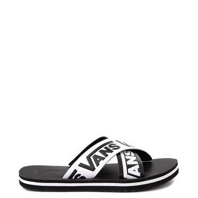 Main view of Womens Vans Cross Strap Sandal - Black / White