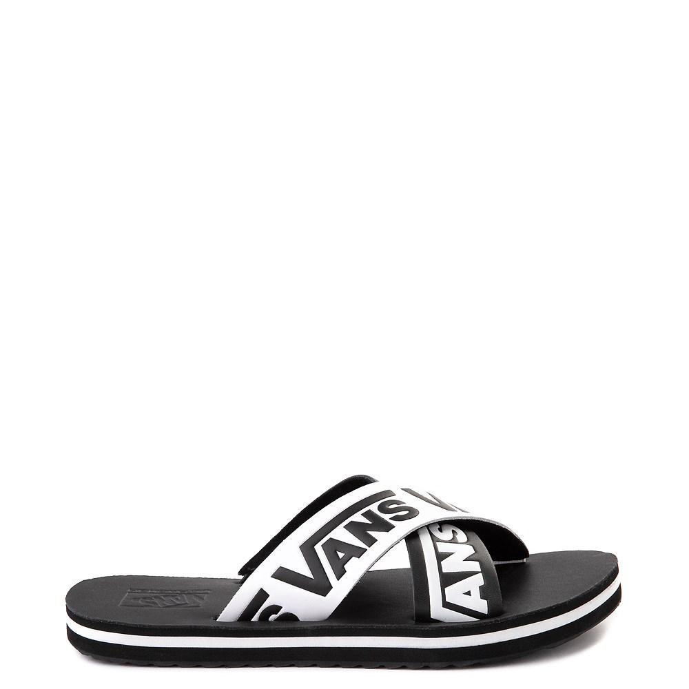 Womens Vans Cross Strap Sandal - Black / White
