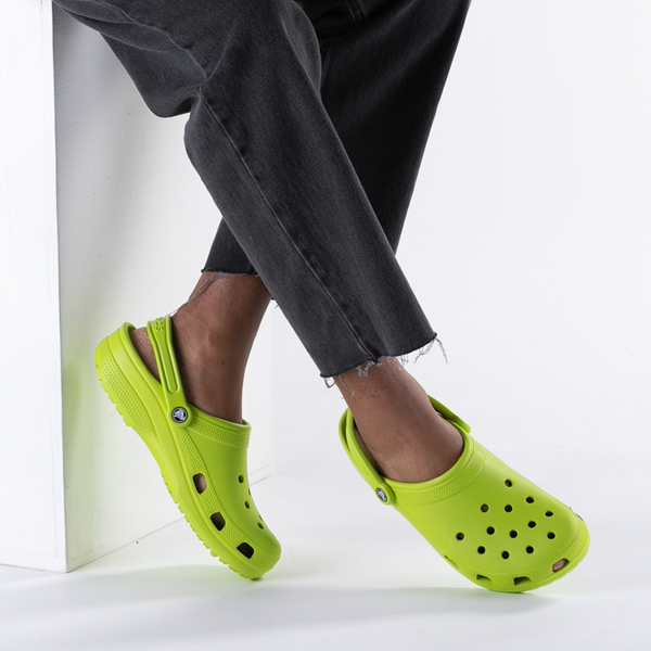 alternate view Crocs Classic Clog - Lime PunchB-LIFESTYLE1