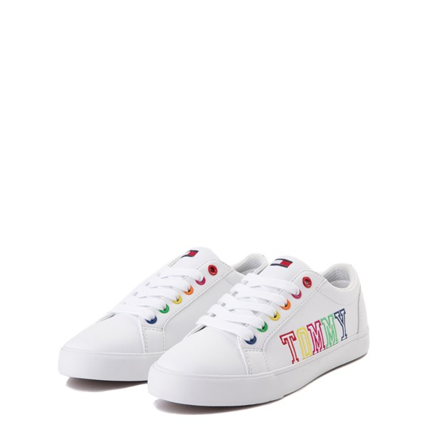 alternate view Tommy Hilfiger Arrin Casual Shoe - Little Kid / Big Kid - White / MultiALT3