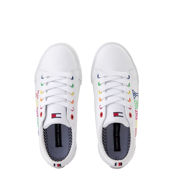 alternate view Tommy Hilfiger Arrin Casual Shoe - Little Kid / Big Kid - White / MultiALT6