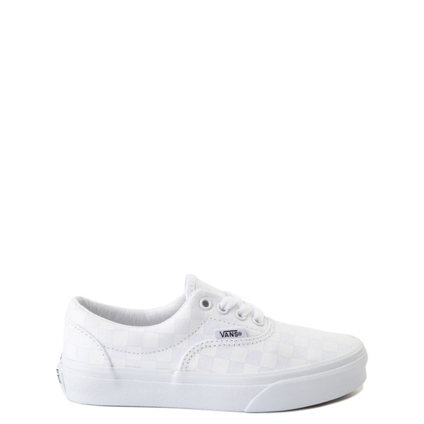 Vans Era Tonal Checkerboard Skate Shoe - Little Kid - True White