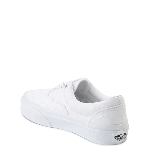 alternate view Vans Era Tonal Checkerboard Skate Shoe - Little Kid - True WhiteALT1