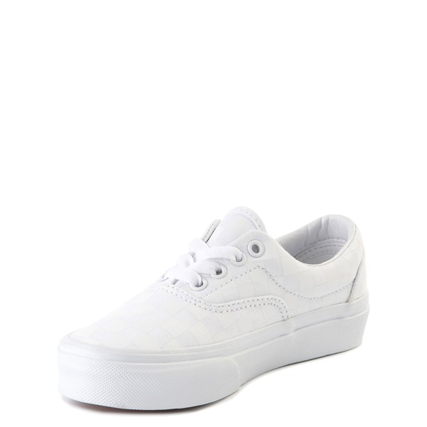 alternate view Vans Era Tonal Checkerboard Skate Shoe - Little Kid - True WhiteALT2