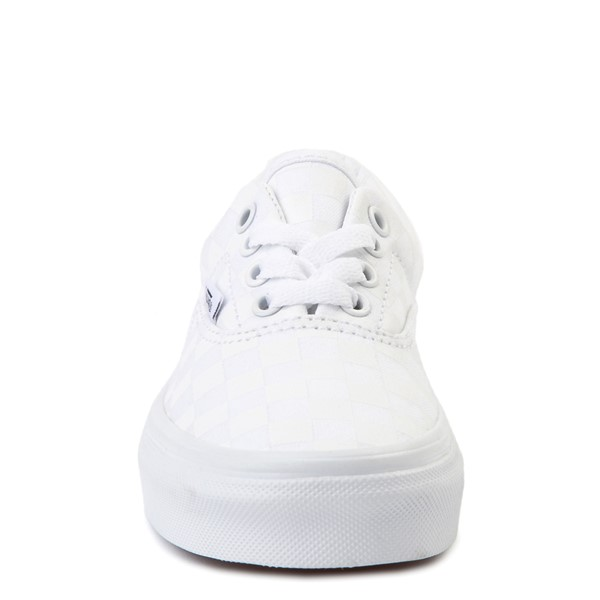 alternate view Vans Era Tonal Checkerboard Skate Shoe - Little Kid - True WhiteALT4