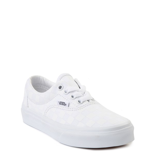 alternate view Vans Era Tonal Checkerboard Skate Shoe - Little Kid - True WhiteALT5