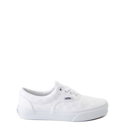 Main view of Vans Era Tonal Checkerboard Skate Shoe - Little Kid - True White
