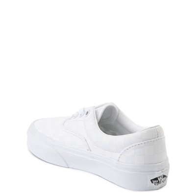 Alternate view of Vans Era Tonal Checkerboard Skate Shoe - Little Kid - True White