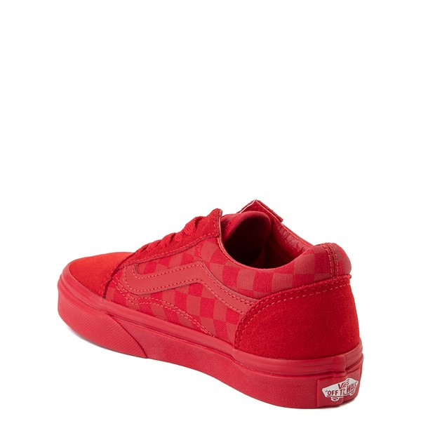 alternate view Vans Old Skool Tonal Checkerboard Skate Shoe - Little Kid - Racing RedALT1