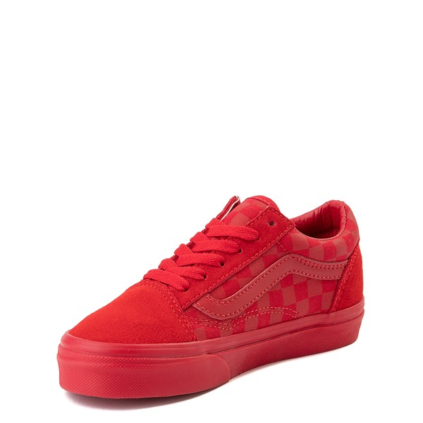 alternate view Vans Old Skool Tonal Checkerboard Skate Shoe - Little Kid - Racing RedALT2