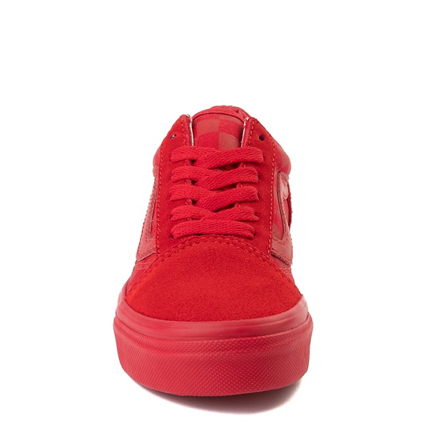alternate view Vans Old Skool Tonal Checkerboard Skate Shoe - Little Kid - Racing RedALT4