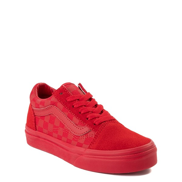 alternate view Vans Old Skool Tonal Checkerboard Skate Shoe - Little Kid - Racing RedALT5