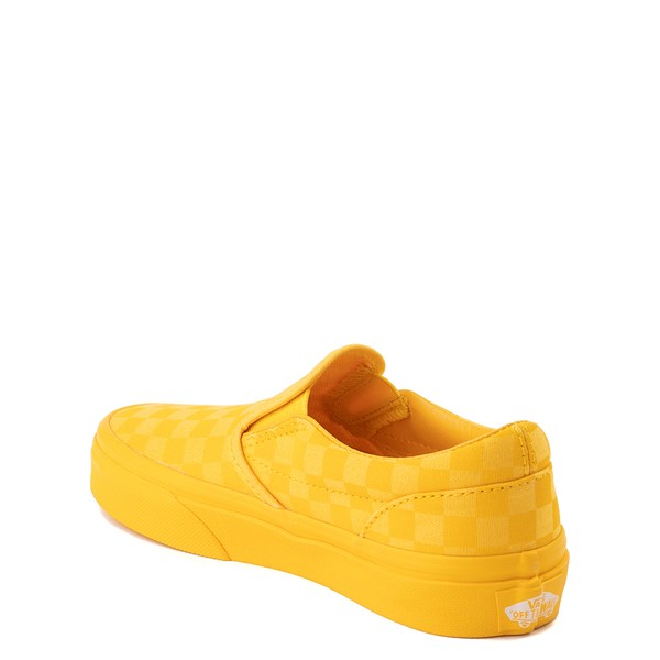 alternate view Vans Slip On Tonal Checkerboard Skate Shoe - Little Kid - Spectra YellowALT1