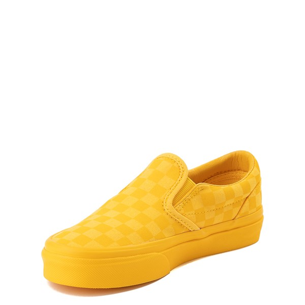 alternate view Vans Slip On Tonal Checkerboard Skate Shoe - Little Kid - Spectra YellowALT2