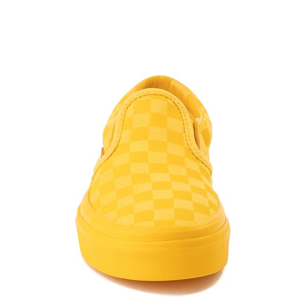 alternate view Vans Slip On Tonal Checkerboard Skate Shoe - Little Kid - Spectra YellowALT4