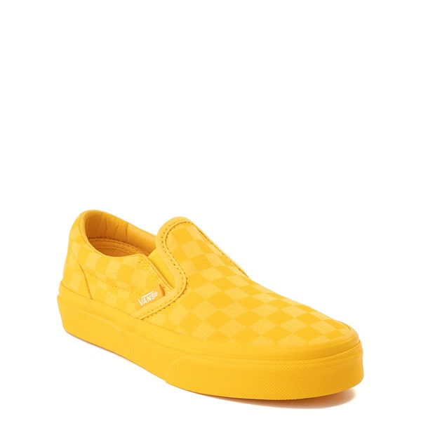 alternate view Vans Slip On Tonal Checkerboard Skate Shoe - Little Kid - Spectra YellowALT5
