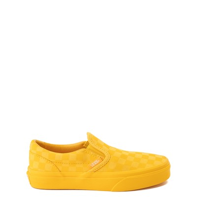 Main view of Vans Slip On Tonal Checkerboard Skate Shoe - Little Kid - Spectra Yellow