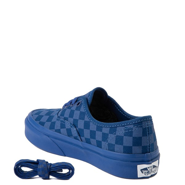 alternate view Vans Authentic Tonal Checkerboard Skate Shoe - Little Kid - True BlueALT1