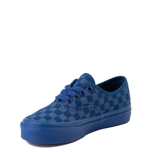 alternate view Vans Authentic Tonal Checkerboard Skate Shoe - Little Kid - True BlueALT2