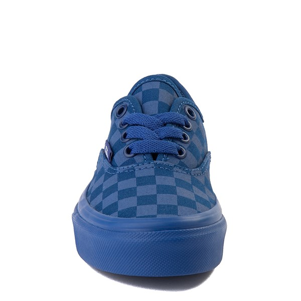 alternate view Vans Authentic Tonal Checkerboard Skate Shoe - Little Kid - True BlueALT4