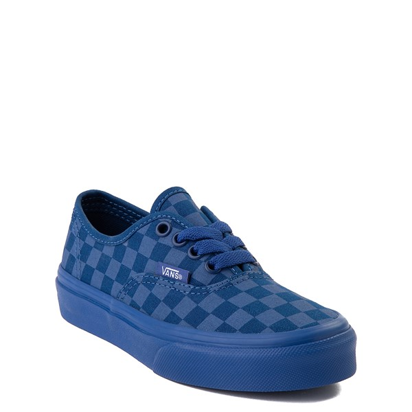 alternate view Vans Authentic Tonal Checkerboard Skate Shoe - Little Kid - True BlueALT5