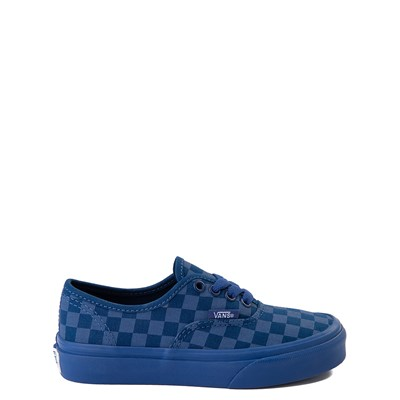 Main view of Vans Authentic Tonal Checkerboard Skate Shoe - Little Kid - True Blue