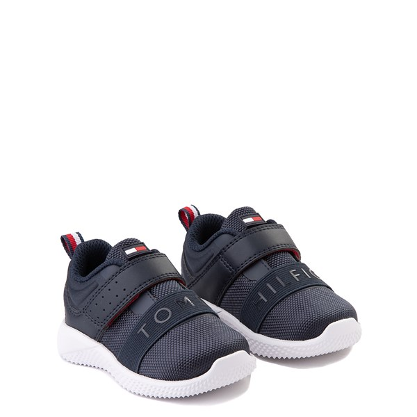 alternate view Tommy Hilfiger Cadet Athletic Shoe - Baby / Toddler - NavyALT1