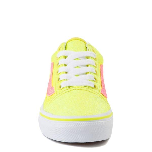 alternate view Vans Old Skool Glitter Skate Shoe - Little Kid - Neon YellowALT4
