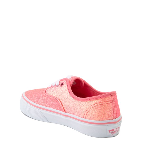 alternate view Vans Authentic Glitter Skate Shoe - Little Kid - Neon PinkALT4