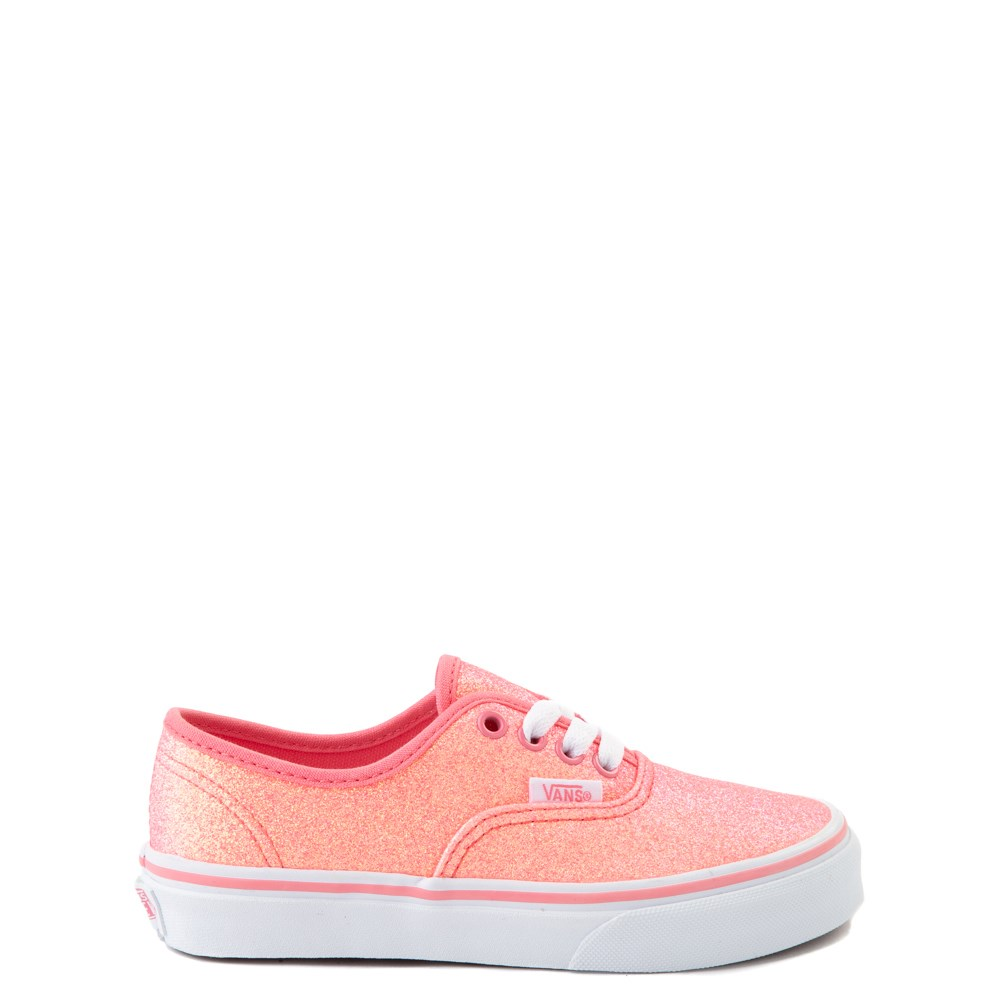 Vans Authentic Glitter Skate Shoe - Little Kid - Neon Pink
