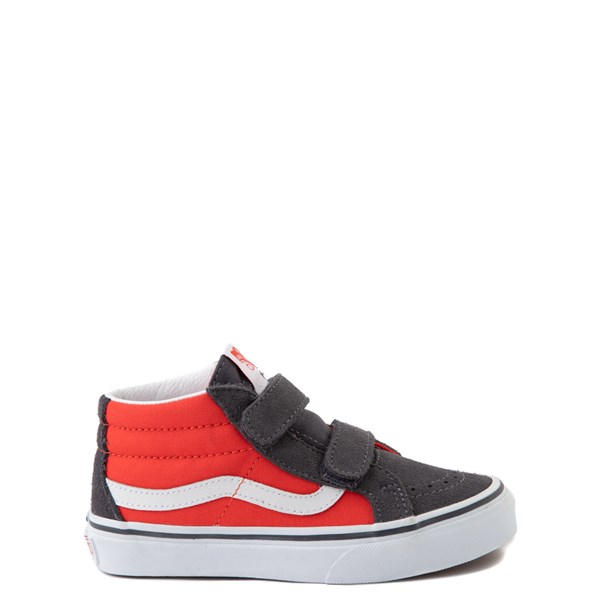 Main view of Vans Sk8 Mid Reissue V Skate Shoe - Little Kid - Grenadine / Periscope