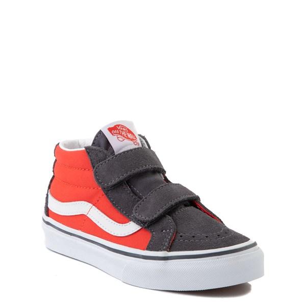 alternate view Vans Sk8 Mid Reissue V Skate Shoe - Little Kid - Grenadine / PeriscopeALT1