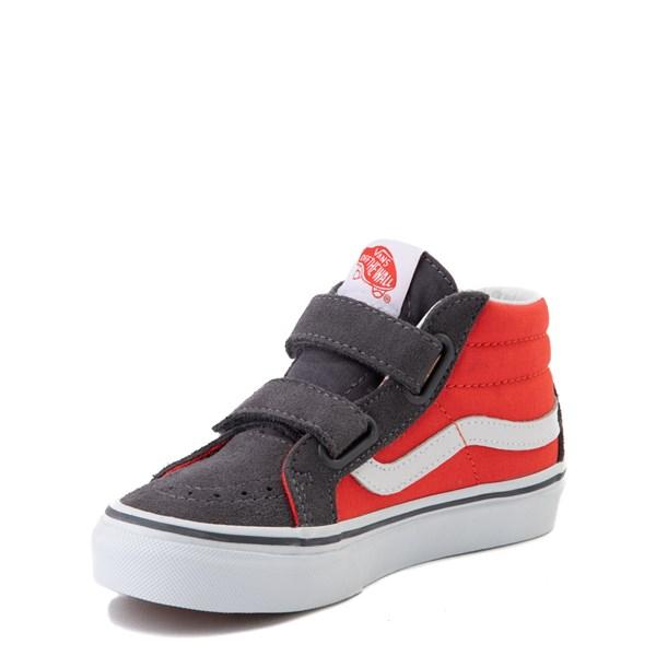 alternate view Vans Sk8 Mid Reissue V Skate Shoe - Little Kid - Grenadine / PeriscopeALT3