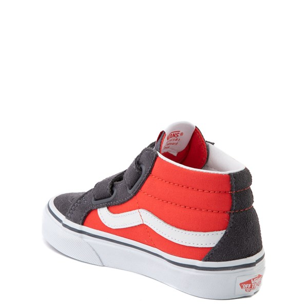 alternate view Vans Sk8 Mid Reissue V Skate Shoe - Big Kid - Grenadine / PeriscopeALT2