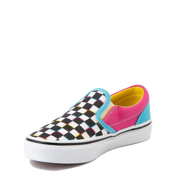 alternate view Vans Slip On Checkerboard Skate Shoe - Little Kid - MultiALT2