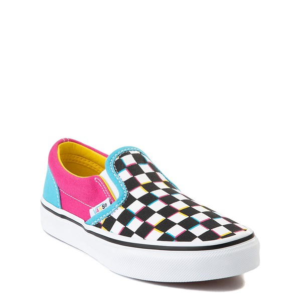 alternate view Vans Slip On Checkerboard Skate Shoe - Little Kid - MultiALT5