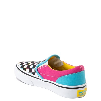 Alternate view of Vans Slip On Checkerboard Skate Shoe - Little Kid - Multi