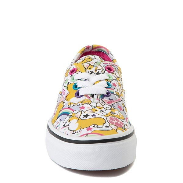 alternate view Vans Authentic Uni-Corgi Skate Shoe - Little Kid - MulticolorALT4